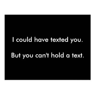 Postal Usted no puede llevar a cabo un texto