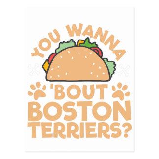 Postal ¿Usted quiere a los terrieres de Boston del