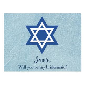 Postal Usted será mi dama de honor judía
