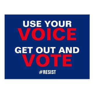Postal Utilice su voz salen y el voto resiste