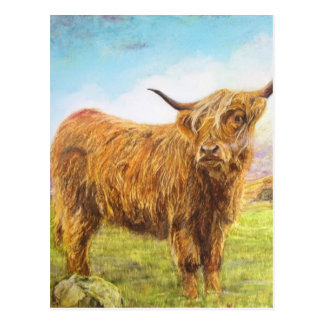 Postal Vaca de la montaña
