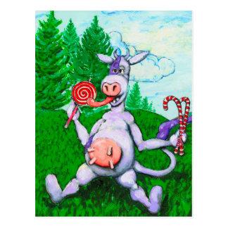 Postal Vaca del caramelo