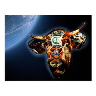 Postal Vaca del espacio