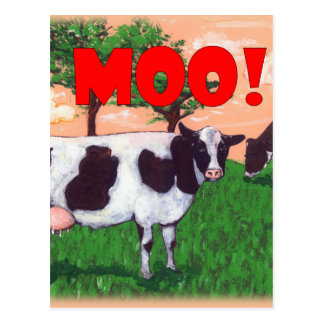 Postal Vaca desafiante