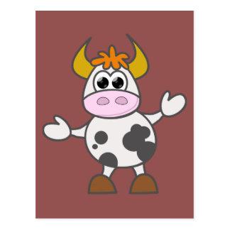 Postal Vaca desconcertada