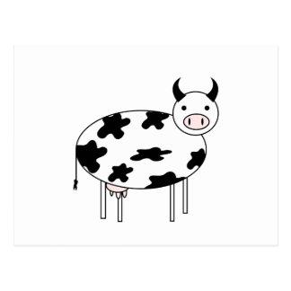 Postal Vaca ilustrada