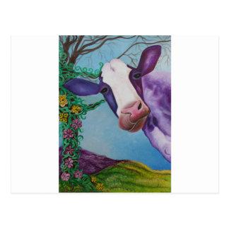 Postal Vaca púrpura