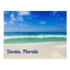 Postal Vacaciones de la fotografía de la playa de Destin
