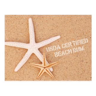 Postal Vago certificado USDA de la playa
