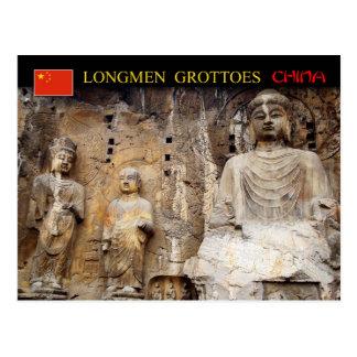 Postal Vairocana Buda, grutas de Longmen, China