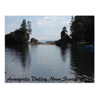 Postal Valle de Annapolis, Nueva Escocia, vista al mar