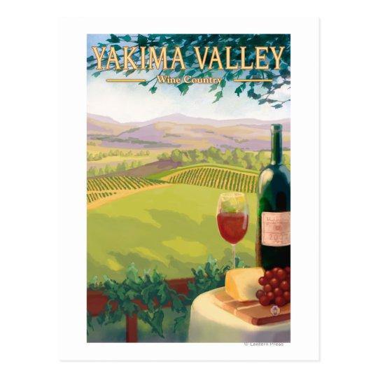 Postal Valle de Yakima, país de WashingtonWine