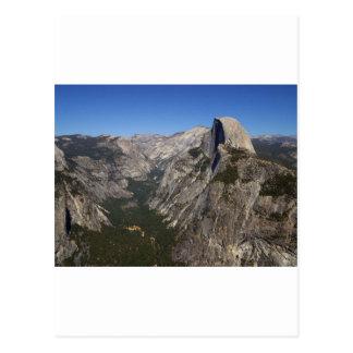 Postal Valle de Yosemite y media bóveda del punto del