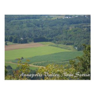 Postal Valle, Nueva Escocia, campos y tierras de