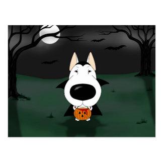 Postal Vampiro de bull terrier Halloween