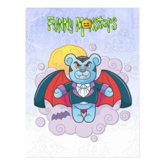 Postal Vampiro del oso de peluche