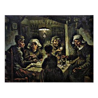 Postal Van Gogh - los comedores de la patata
