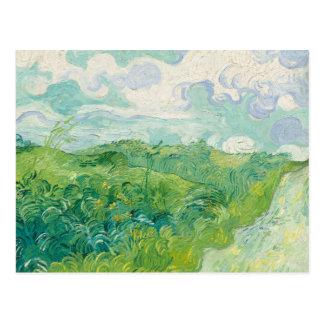 Postal Van Gogh--Postal verde de los campos de trigo