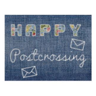 """Postal """"vaqueros felices de Postcrossing """""""