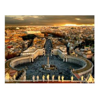 Postal Vatican cuadrado de San Pedro