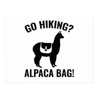 Postal ¿Vaya a caminar? ¡Bolso de la alpaca!
