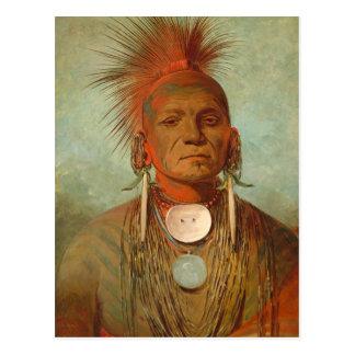 Postal Vea-no-ty-uno, un curandero de Iowa, 1844