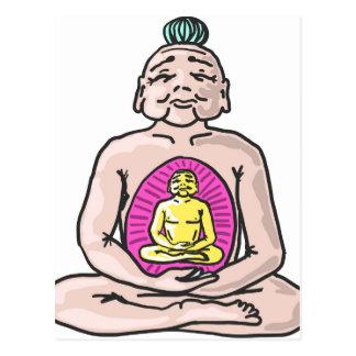 Postal Vector del bosquejo de Buda