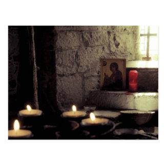 Postal Velas de la abadía de Iona