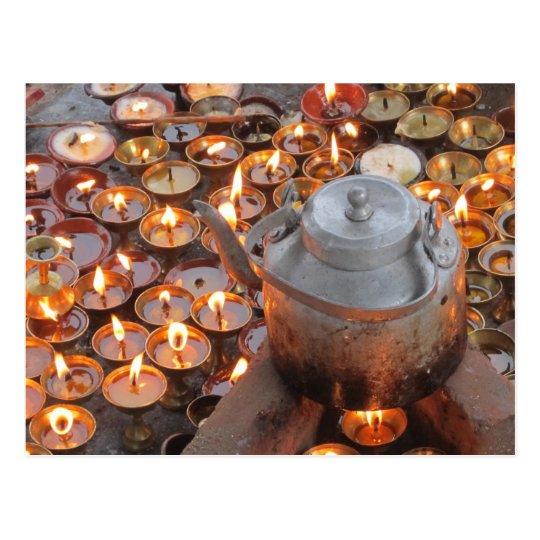 Postal Velas en Boudha Stupa