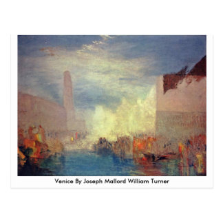 Postal Venecia de José Mallord Guillermo Turner