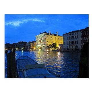 Postal Venecia - Gran Canal en la noche