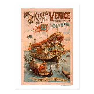 Postal Venecia, novia del mar en las góndolas 3 de