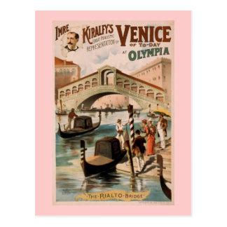 """Postal """"Venecia teatro del vintage del hoy"""""""