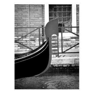 Postal veneciana de la góndola