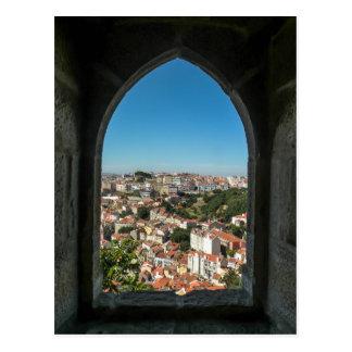 Postal Ventana del castillo de Jorge del sao, Portugal -