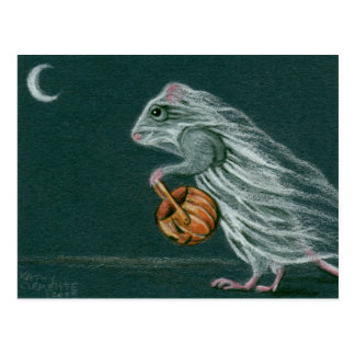 Postal ventosa del fantasma de Halloween