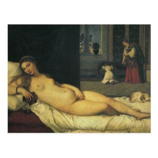 Postal Venus de Urbino por Titian, arte renacentista