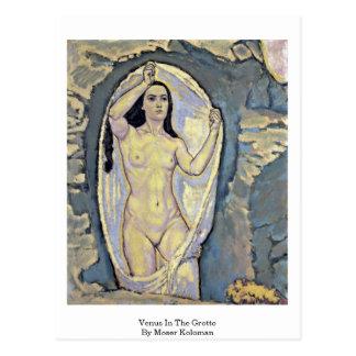 Postal Venus en la gruta de Moser Koloman