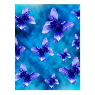 Postal Verano azul de la mariposa