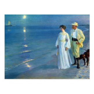 Postal Verano de Peder Severin Krøyer que iguala la playa