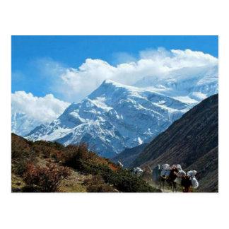 Postal Verano del viaje de Himalaya el monte Everest la