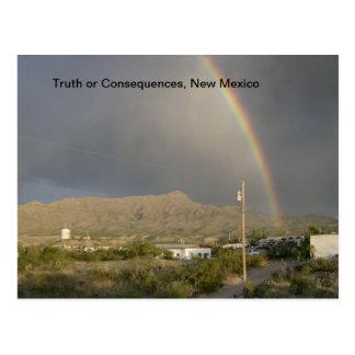 Postal Verdad o consecuencias, arco iris del nanómetro