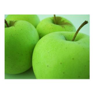 Postal verde clara de las manzanas