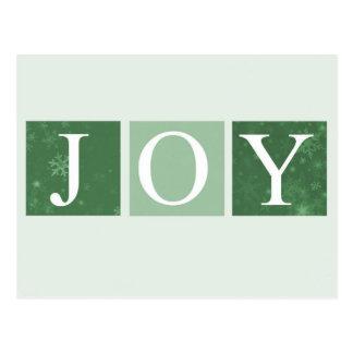 Postal verde de la alegría del navidad