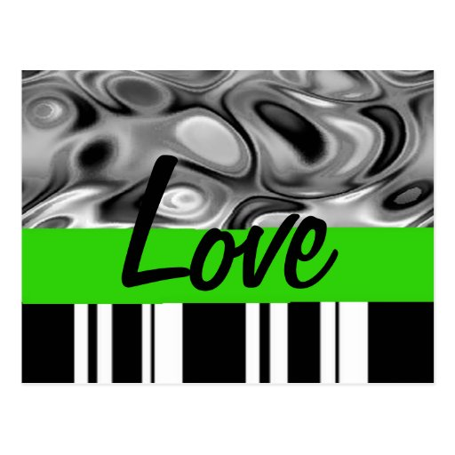 Postal verde del amor del acento
