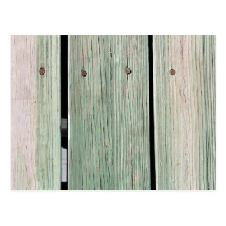 Postal Verde y calzada de madera del tablón de Brown