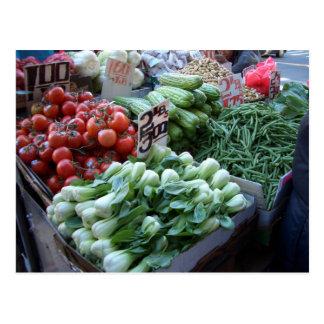 Postal Verduras frescas CricketDiane del mercado