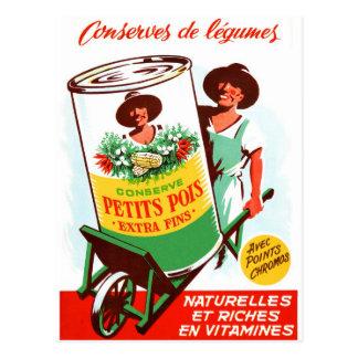 Postal Verduras gigantes alemanas retras del kitsch 50s