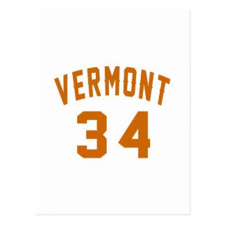 Postal Vermont 34 diseños del cumpleaños
