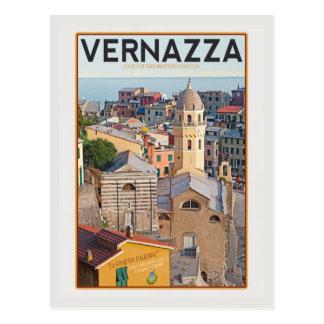 Postal Vernazza - iglesia del d'Antiochia de Santa